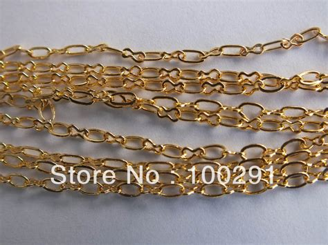 free shipping jewelry gold plated bulk chain for 3 4mm