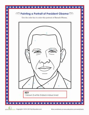 4th grade activities for president obama just b cause barack obama coloring page worksheet education com