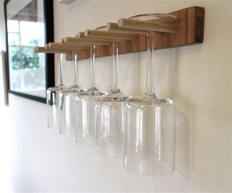 scrap wood wine glass rack 6