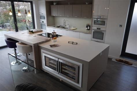 kitchen island worktops uk mix of corian and spekva wood designed by by design and fabricated by counter production