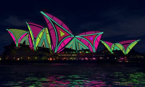 Sydney Opera House Becomes A Landscape Of Lights With Outdoor Lights Sydney