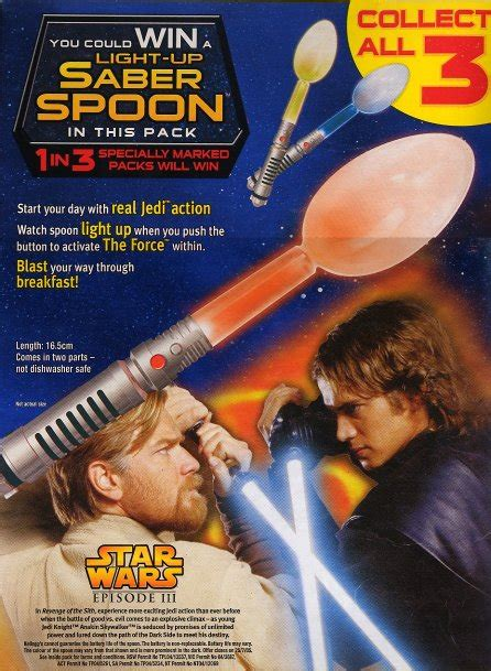 coco lopez australia coco pops light up saberspoon star wars collectors archive