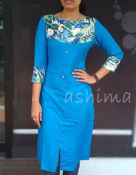 yoke pattern kurti code 1603160 flax cotton with printed yoke price inr 890
