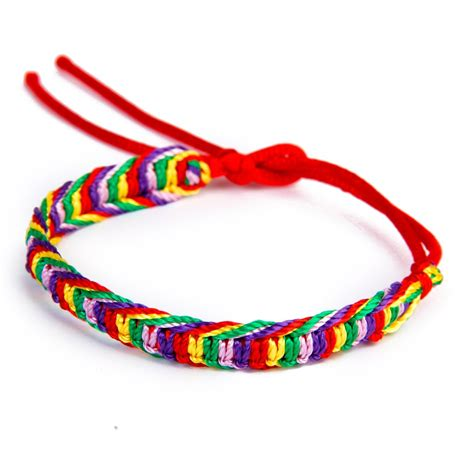 Handmade Threads - details about 9 x colorful handmade braided friendship