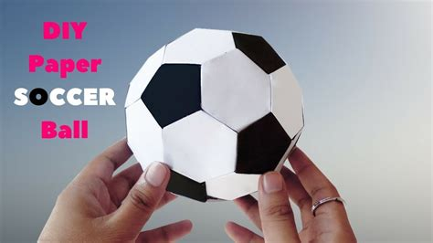 How To Make An Origami Football - origami soccer how to make paper soccer step