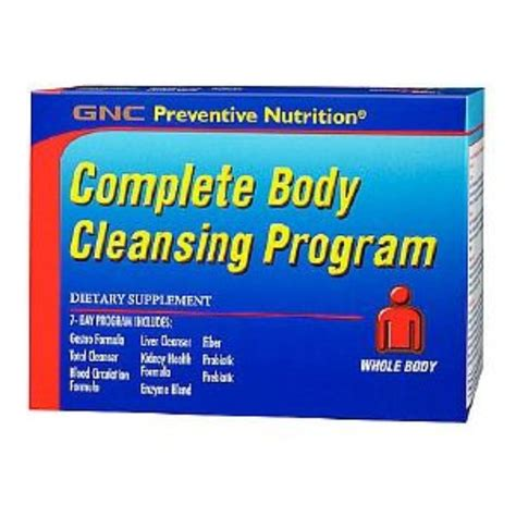 Best Detox System Gnc by Gnc Preventive Nutrition Complete Cleansing Program