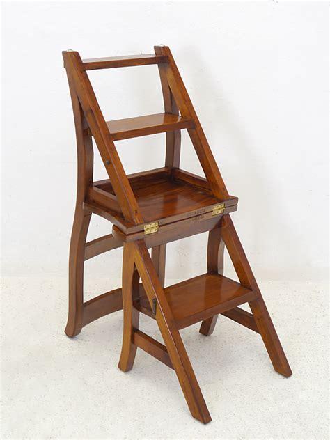 stuhl leiter leiterstuhl stuhl treppenstuhl massivholz in nussbaum zum