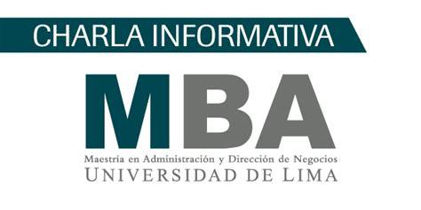 Posgrado Mba by Charla Informativa Maestr 237 A En Administraci 243 N Y Direcci 243 N