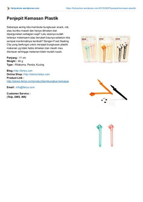 Alat Penjepit Plastik alat penjepit kemasan snack plastik