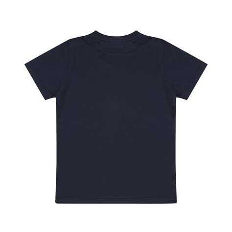 Navy Tshirt fendi boys navy blue t shirt with yellow light bulb print
