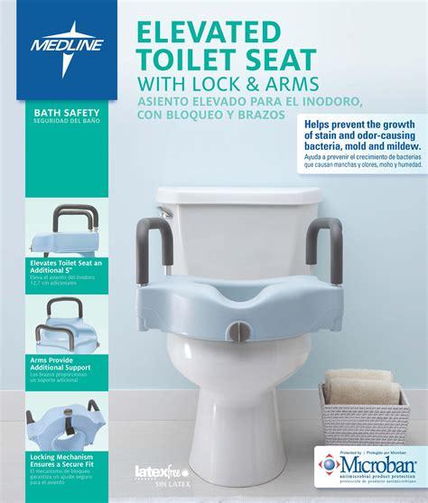 amazoncom medline locking elevated toilet seat  arms