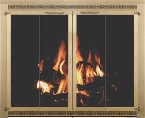 Bifold Fireplace Doors by Stoll Fireplace Inc Glass And Mesh Doors And Hanging Mesh