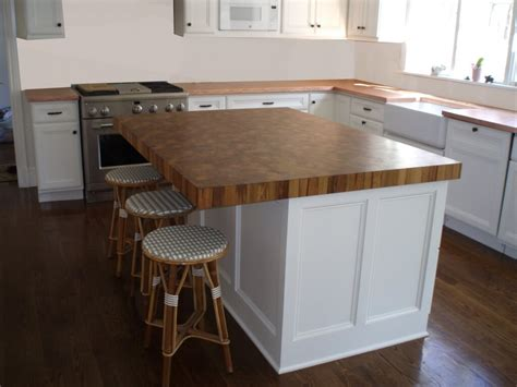 wood island tops kitchens end grain wood countertops by custom