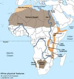 africa map rivers lakes mountains test your geography knowledge africa physical features quiz lizard point