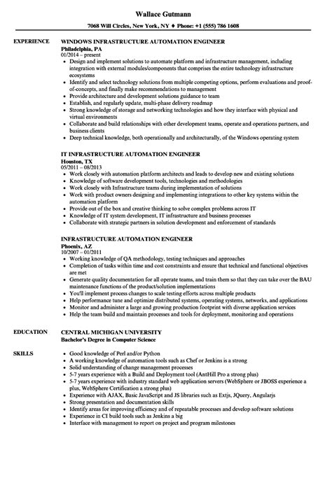 infrastructure automation engineer resume sles velvet