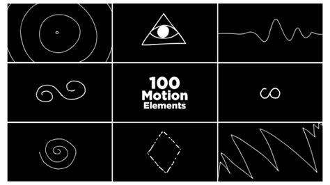100 motion elements pack cartoons after effects