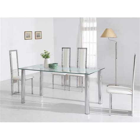frosted glass dining table and chairs frosted glass dining table 4 cutout chairs kk