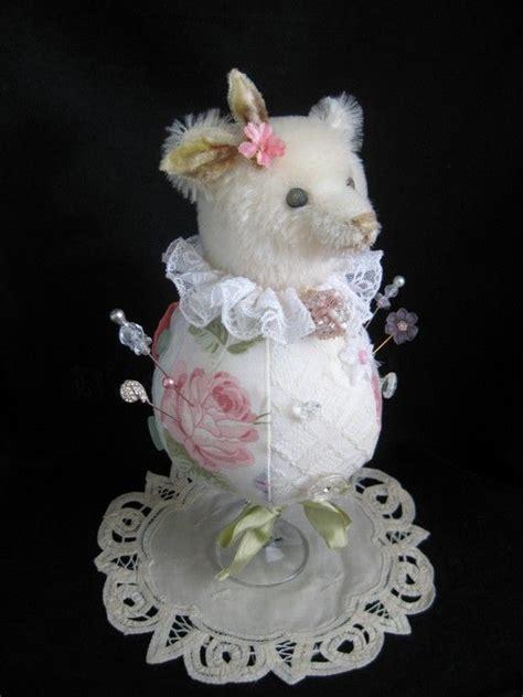 Handmade Teddy Patterns - handmade artist teddy pin cushion pincushions