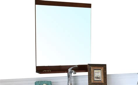 Modern Bathroom Mirror Frames Solid Wood Frame Mirror Walnut Modern Bathroom Mirrors
