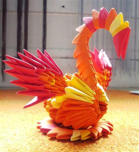 origami 3d phoenix tutorial little phoenix 3d origami by sophieekard on deviantart
