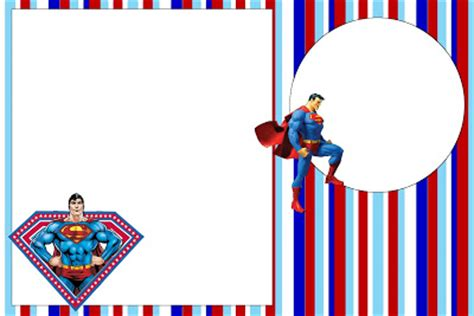 superman card template superman free printable invitations oh my in
