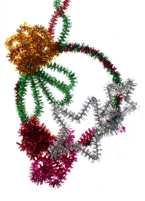 yukamila art pipe cleaner crafts christmas ornaments 2013