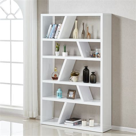 white contemporary bookcase helix contemporary bookcase or shelving unit in white high