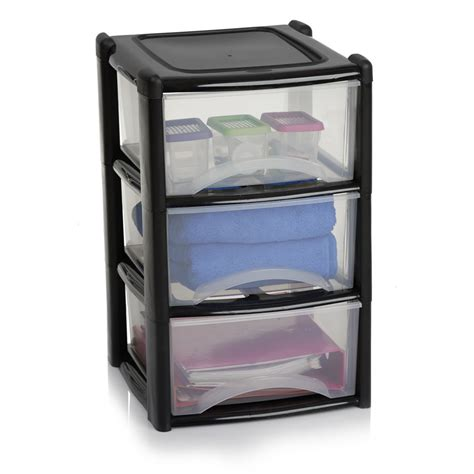 3 Drawer Plastic Storage Unit Wilko Storage Unit 3 Drawer Assorted At Wilko