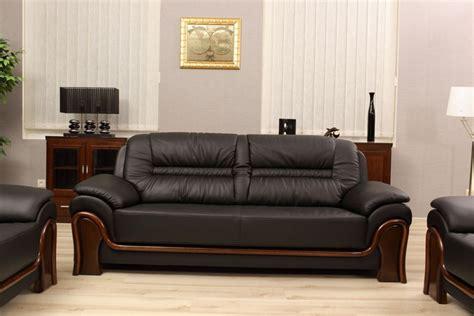 divani in pelle divano 3 posti e due poltrone in pelle per uffici e studi