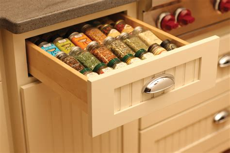 Drawer Spice Storage by Spice Racks Drawers Storage Dura Supreme Cabinetry
