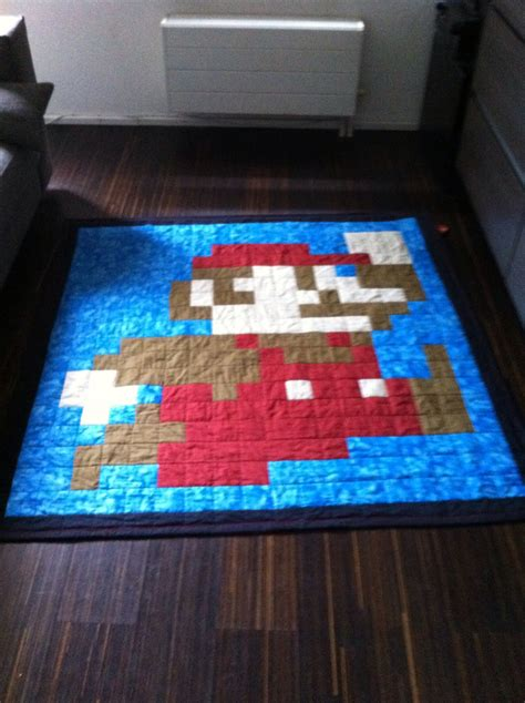 Mario Quilt beginner pattern for mario bros quilt t1 t3 e1 e3 idle
