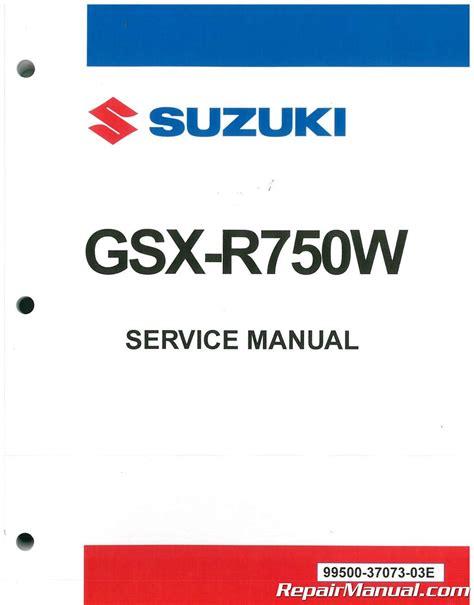 suzuki gsxr motorcycle service manual