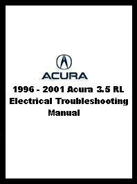 1996 2001 acura 3 5 rl electrical troubleshooting manual