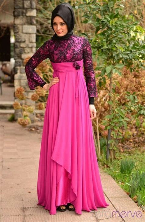 Maxi Dress Muslim Mewah Elegan Bahan Ceruty Warna Dusty Fit Xl model baju muslim pesta 2016 terbaru bahan brokat