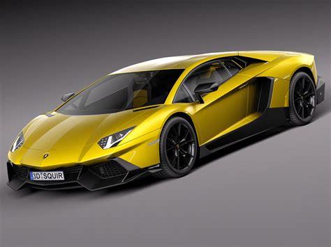 Lamborghini 50th Anniversary Car Lamborghini Aventador Lp720 4 50th Anniver 3d Model