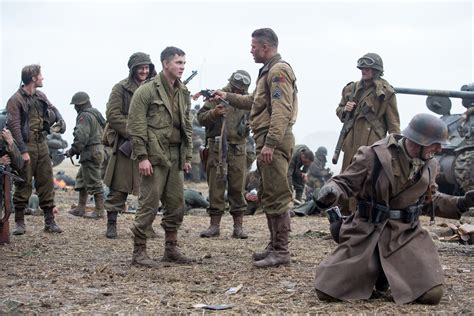 film perang fury new fury images featuring brad pitt shia labeouf and