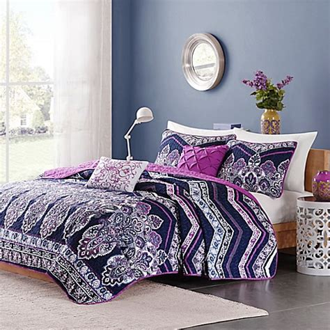 Intelligent Design Adley Coverlet Set In Purple Bed Bath