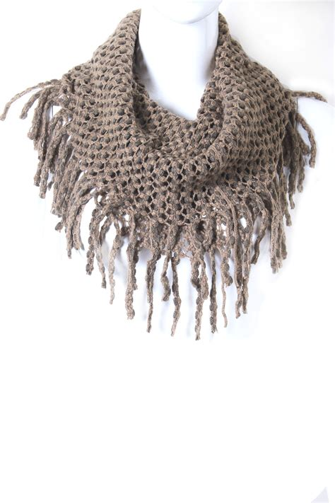 knitting pattern for tubular scarf knit tube infinity fringe scarf scarves