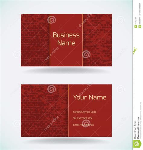 Business Card Construction Templates Free For Illustrator by Business Card Template Stock Vector Image 66452759