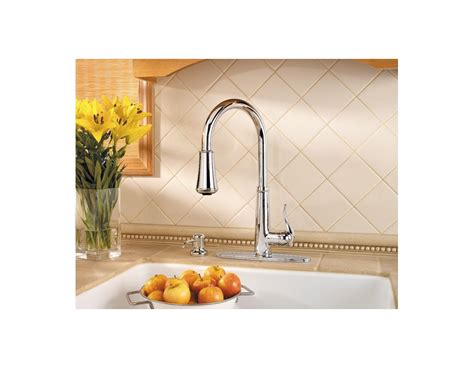 price pfister gt529 yp pull out kitchen faucet pfister gt529 yp kitchen faucet build com