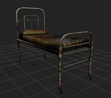old beds 3d model hospital old bed terror