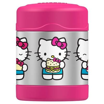 Hello Pink Stainless Thermos genuine thermos hello funtainer stainless steel food