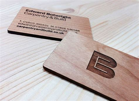 Carpentry Business Cards