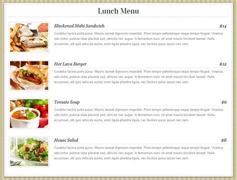 themes com menu organic themes wordpress restaurant theme