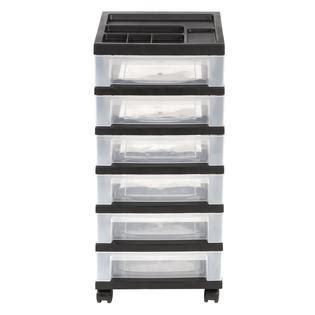 iris 6 drawer cart iris 6 drawer storage cart with organizer top