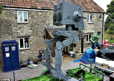 Garden Gnomes With Guns girlfriend forces sci fi nut 42 to sell his 16ft replica