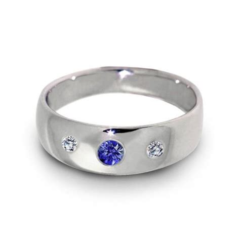 Wedding Bands With Stones by Three Wedding Ring Sapphire Ring 14k White