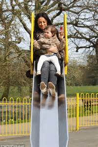 trying swinging chantelle houghton takes daughter dolly to play at the