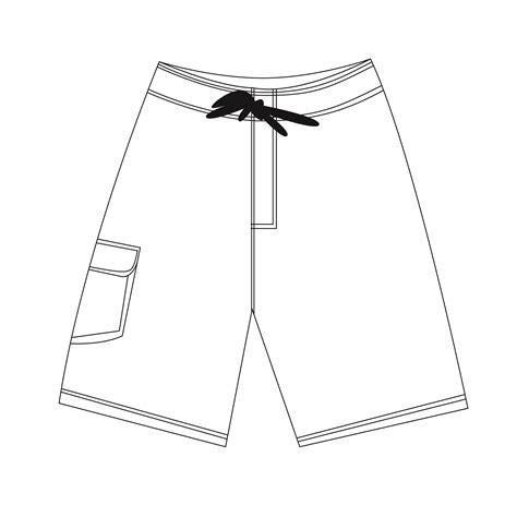 Board Shorts Neptune Apparel Board Shorts Template