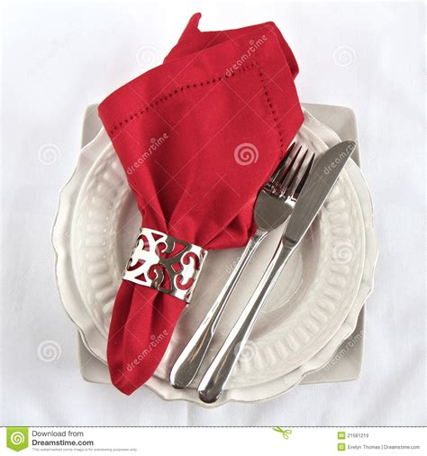 setting table napkin silverware as a table setting with napkin royalty free